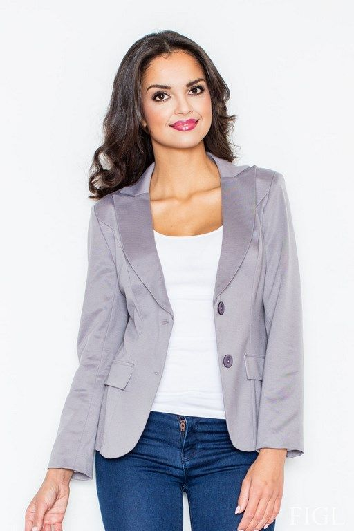 Women's gray jacket with an elegant fashion