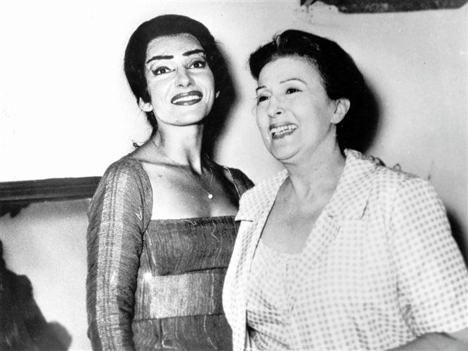 Two of Greece's most beloved and respected divas , Katina Paxinou & Maria Callas