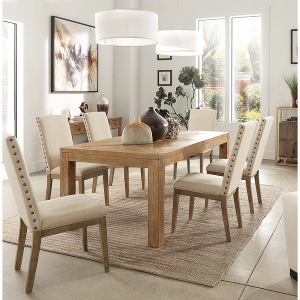 Kashton Reclaimed Natural Finish 96 Inch Extending Dining Table By