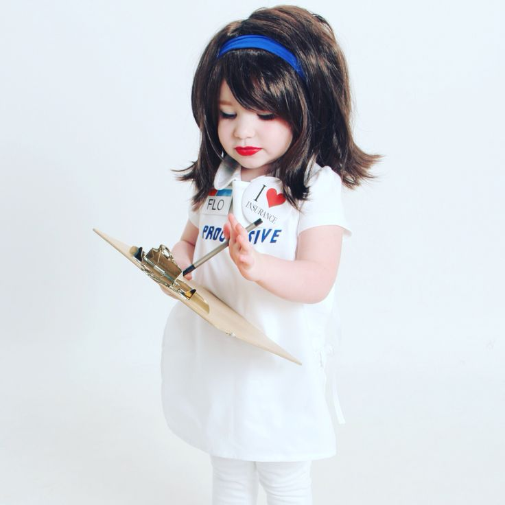 halloween costume flo from progressive insurance discounts funny toddler