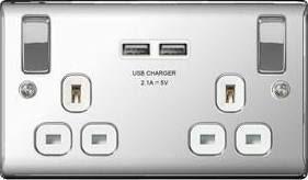 double usb electric socket