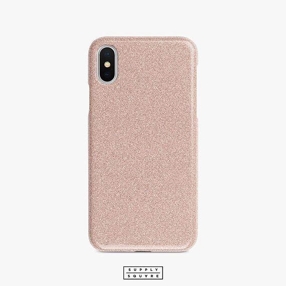 Rose Gold Glitter Print Iphone 8 Case Iphone X Case Phone Case Rose Gold Phone Case Rose Phone Case Gold Iphone 7 Plus
