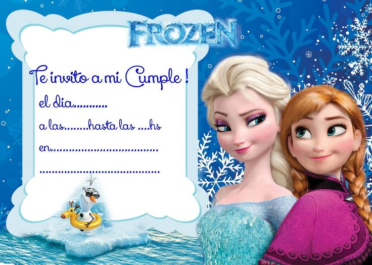 invitaciones de frozen - Buscar con Google                                                                                                                                                      Más