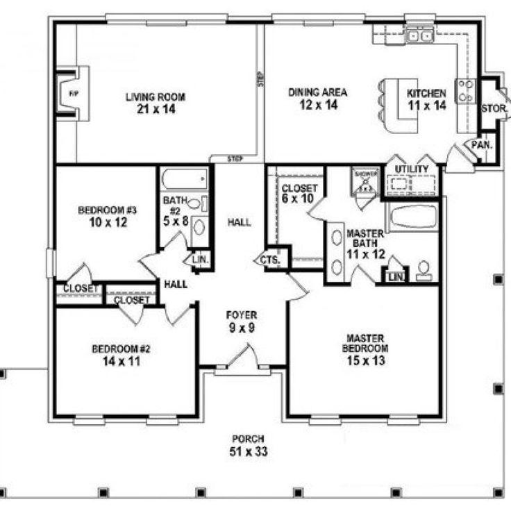 denah rumah 3 kamar ukuran 6x12