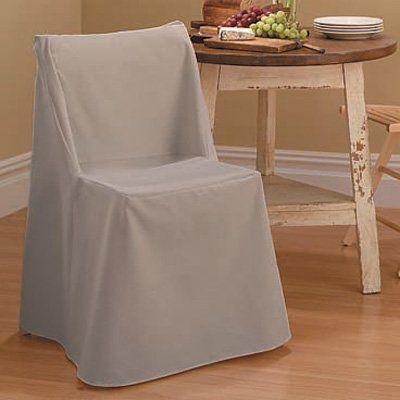 Sure Fit Cotton Duck Folding Chair Cover Rich Black - 37159, SRFT029-3