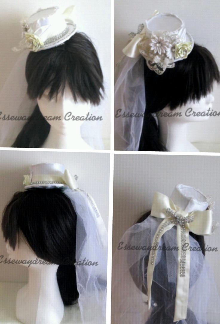 pettine cappello da sposa esempio acconciatura