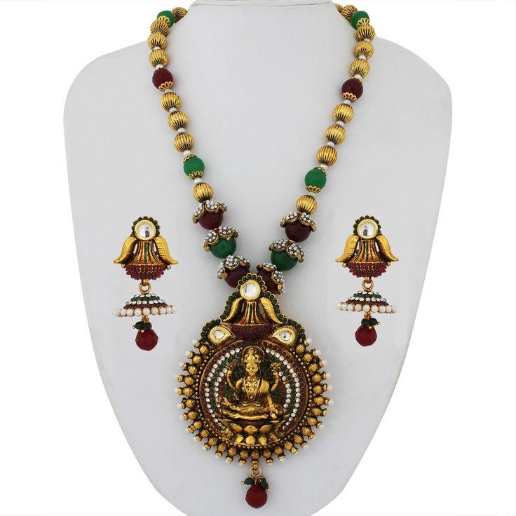 Designer Traditional Antique Necklace Set AQ-NCK-058-270
