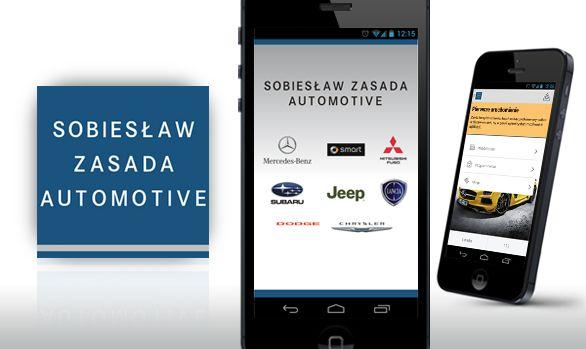 Aplikacja mobilna na dealera Sobiesław Zasada Automotive  #mobile #automotive #dealership