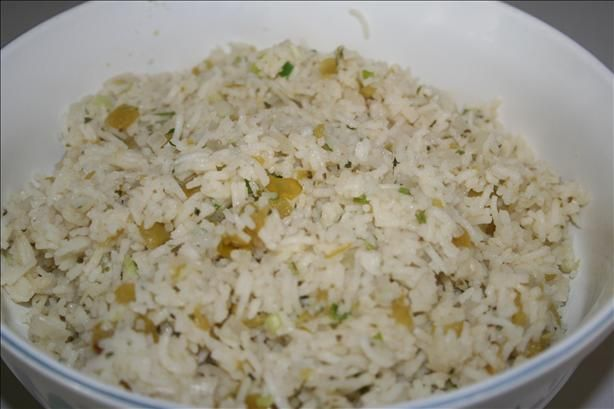 Green Chili Rice from Food.com: Another south of the border favorite side dish to serve with your next mexican fiesta.