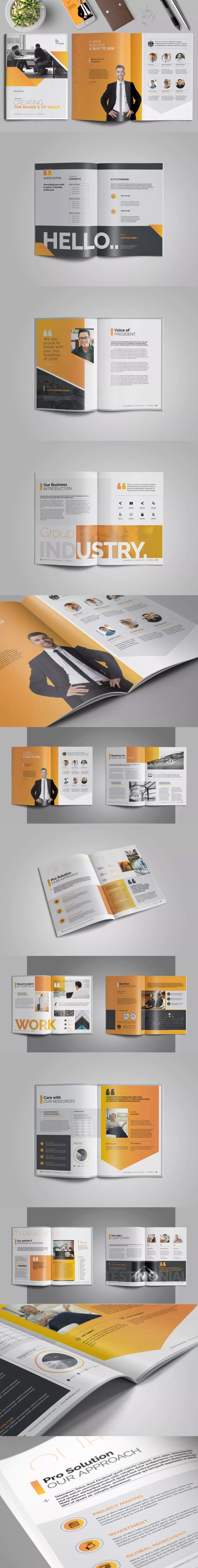 Business Brochure Template InDesign INDD - A4 and US Letter Size