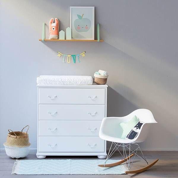Muebles blancos en dormitorios infantiles