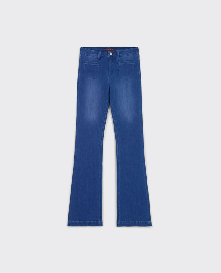 """Flare-Jeans mit hoher Taille """"Folie douce"""""""