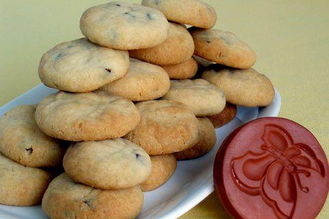 Condensed Milk Biscuits recipe.* Egg-free recipe for Condensed Milk Biscuits with chocolate chips. -