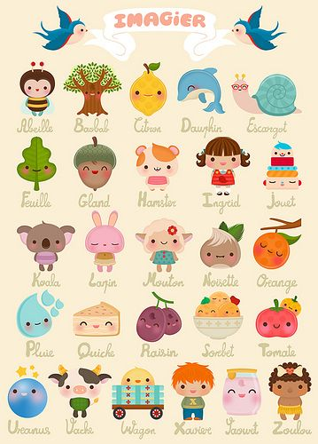 Silvia Portella: available on laffichemoderne.com. #cute #icons #illustrations #alphabet #kids #children #illustration
