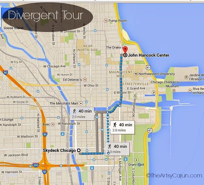 The Bean Chicago Map Divergent Walking Tour | My New City | Chicago map, Walking tour