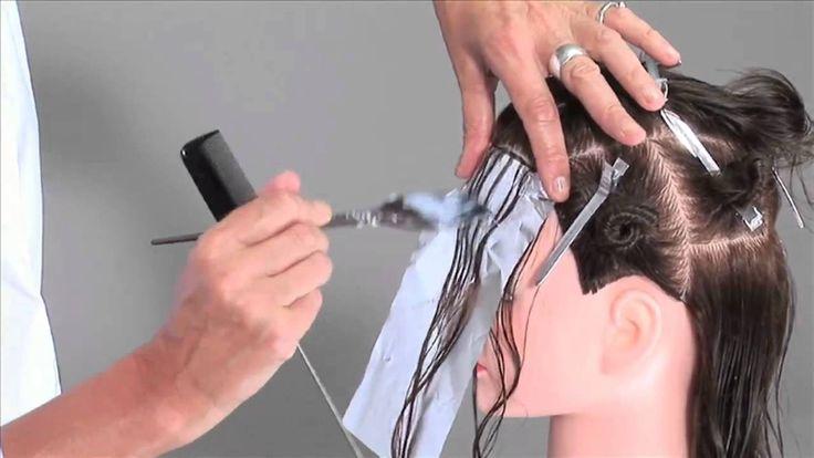 """Мелирование """"елочкой"""" - видео-урок по окрашиванию на манекене"""