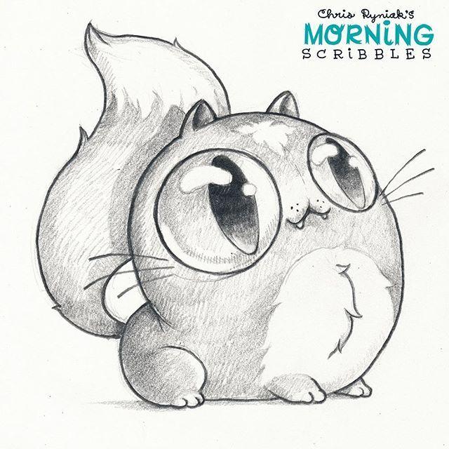 WEBSTA @ chrisryniak - Majesticat is all eyes, no brains.  #morningscribbles