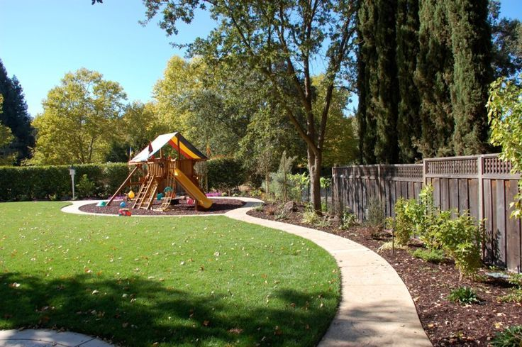 Really want a tricycle path in our backyard!This whole yard layout is perfect! Doesnt seem too expensive either. - Gardening Designing