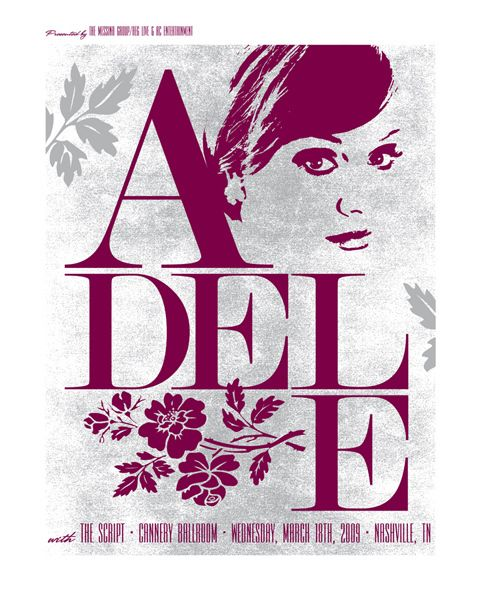 adele: Art Covers, Picture-Black Posters, Adele Gig Posters Com, Sweet Music, Music Posters, Adele Concerts, Concerts Posters, Concert Posters, Rad Music