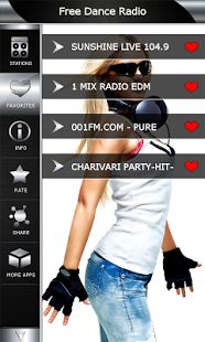 Free Dance Radio is new internet app which offers best dance music soundboard with cool high quality live stream radio stations. If you love dance music, now you can have dance music radio on your smartphone. Looking no more. Download dance music radio app free here https://play.google.com/store/apps/details?id=com.popularradiostations.freedancemusic choose favorite Fm frequency and enjoy relaxing dance music all the time