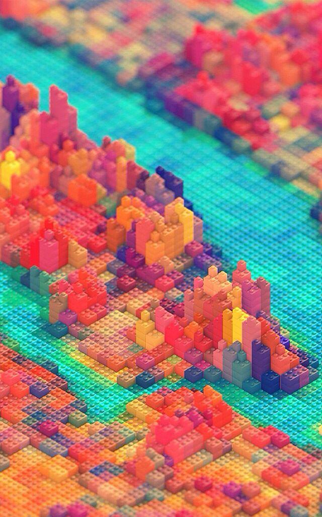 Cool lego landscape