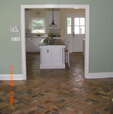 Historical Bricks : Brick Floors : Brick Patios For The Kitchen, Bath, And  Entry