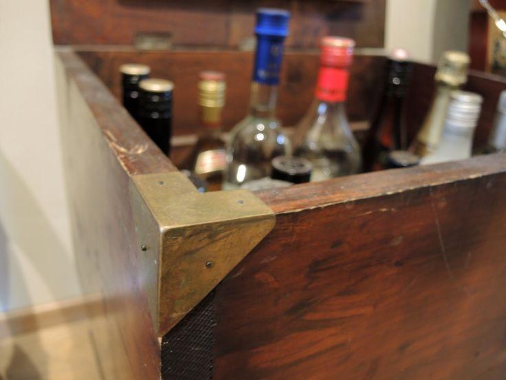 Half a century old wooden box - Handmade brass corners