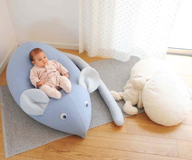 Huge Mouse Beanbag Pillow Baby Bean Bag Kids Pouf Chair Sofanursery Furniture Blue Jeans White Floor