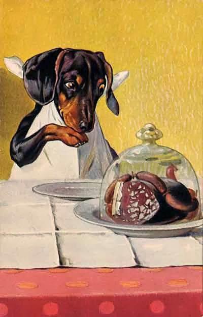 Писатель и Интернет: Старинные открытки с собаками
