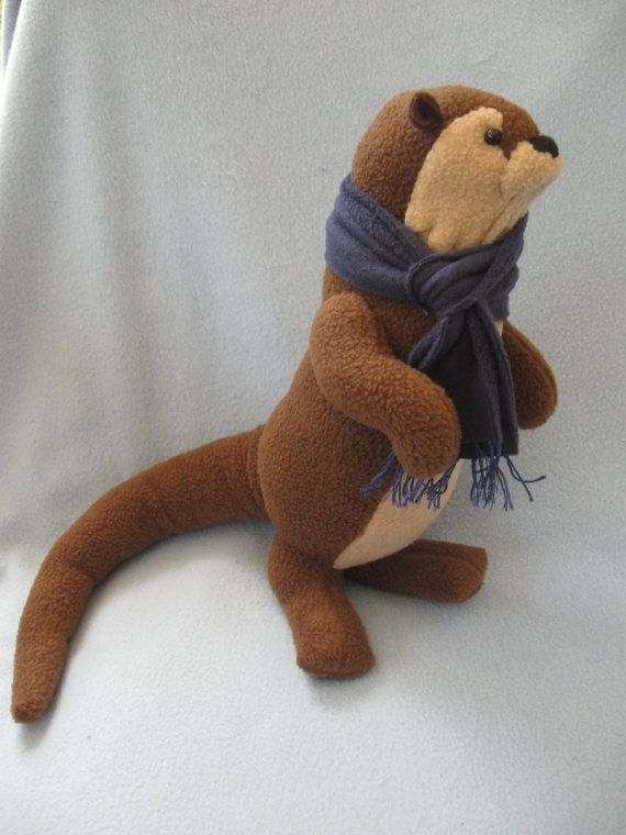 Otter Doll by StitchyButton on Etsy - Sherlock otter - Benedict Cumberbatch