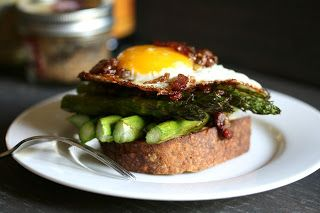asparagus and egg with bacon vinagarette | eggs | Pinterest ...