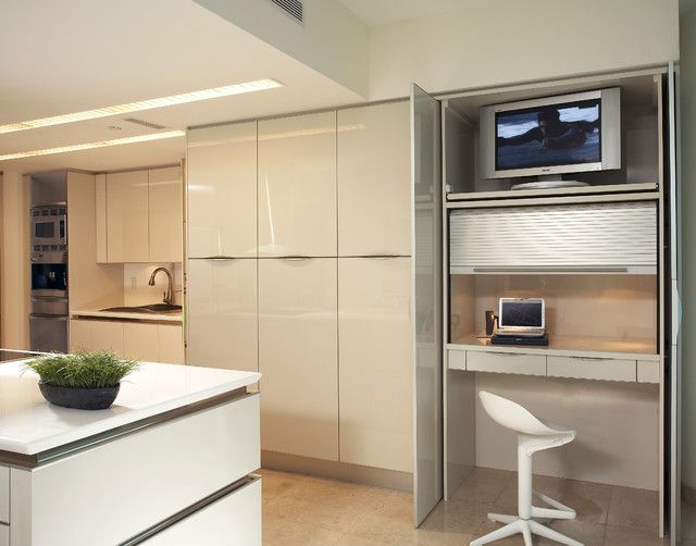 hideaway office desk for home - Decoist