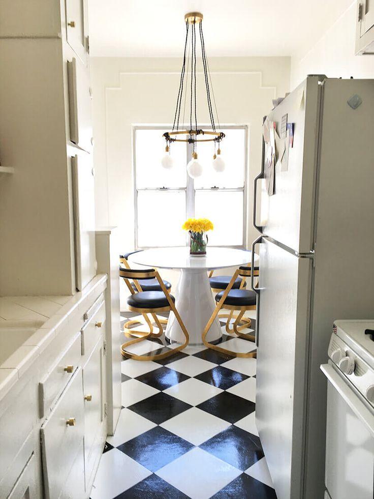 brady s diy peel and stick kitchen flooring for 50