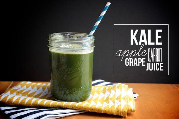 Kale Apple Grape Carrot Juice