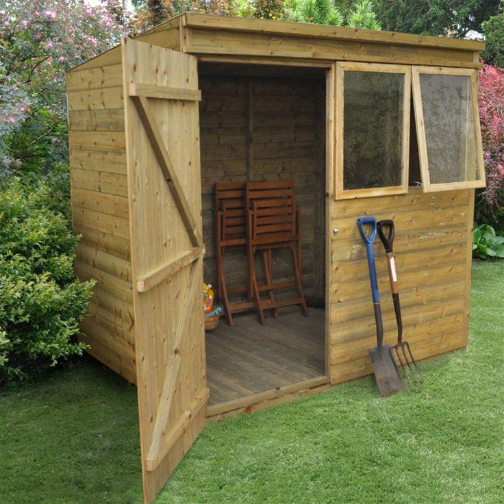 Forest Garden Pressure Treated Shiplap Pent Shed - 7 x 5 | Internet Gardener