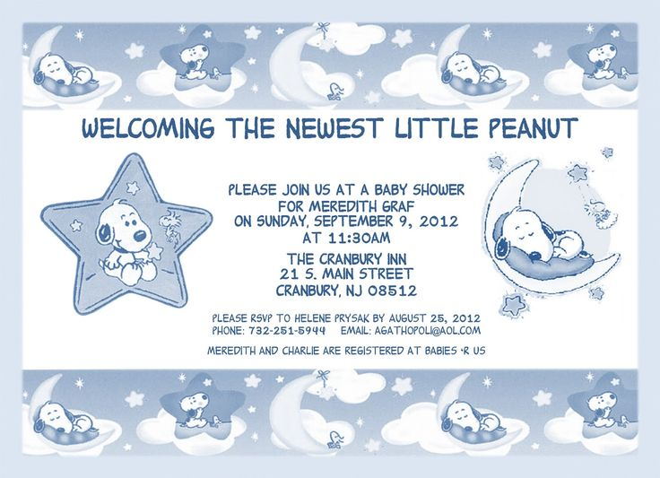 57 best snoopy images on Pinterest Baby showers, Baby snoopy and - email baby shower invitation templates