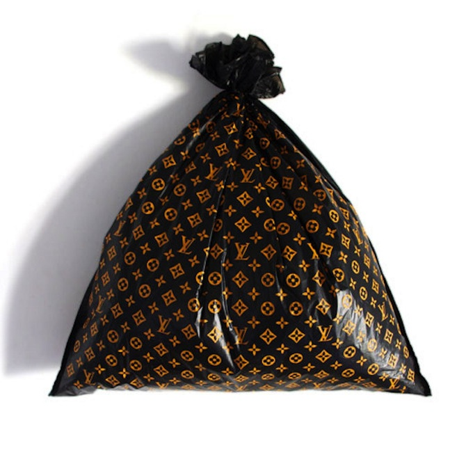 Ruben Verdu  Louis Vuitton Trash Bag  ink on plastic trash bag  Dimensions Variable  2008