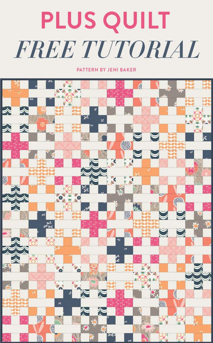 This post is a compilation of a few different Plus Quilt variations. It's such an easy and elegant quilt pattern!