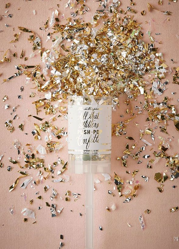Confetti is a great addition to any celebration. Just throw the glinting gold in the sky and watch the fun fly.