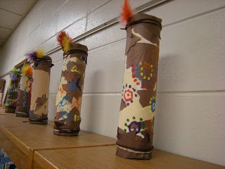 Australian Aboriginal art project. Rain sticks