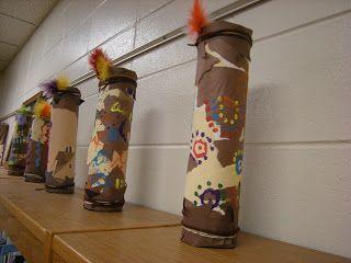Australian Aboriginal art project. Rain sticks