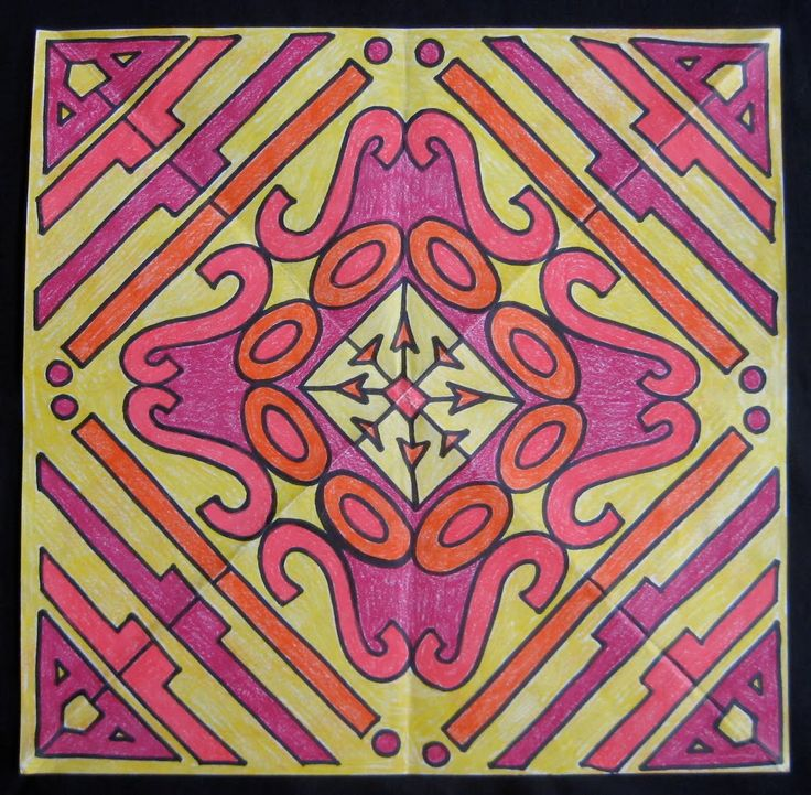 Fourth grade students learn how math and art come together in this Rotational Symmetry Art project!!!