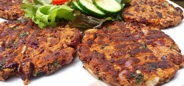 Kidney-Bohnen-Burger-Patties, vegan und glutenfrei