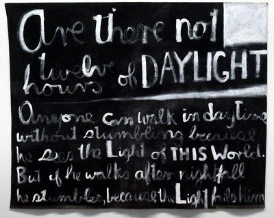 Are there not twelve hours of daylight; Colin McCahon; 1970
