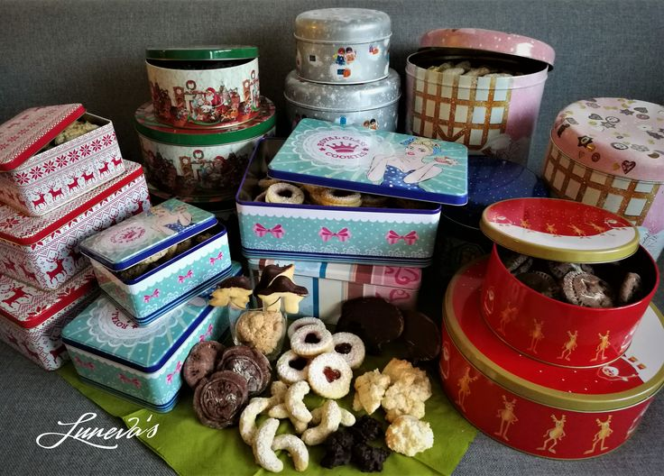This year's #christmas #collection: #vanilla #crescents, #jelly #rings, #butter #cookies, #marzipan #chocolate, #ginger #bread
