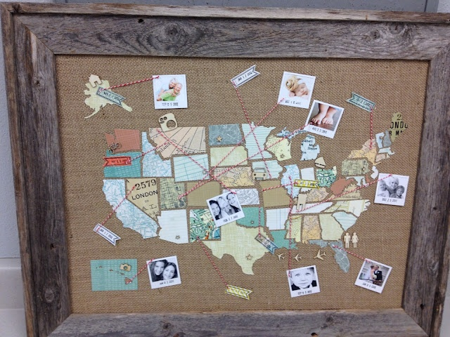 Life Lately u2026 Crafts, Projects and DIY Pinterest Cork boards - copy large world map for the wall