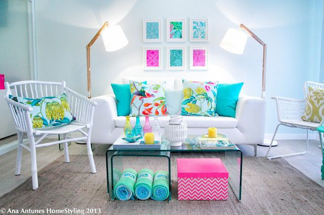 Project for 'Querido Mudei a Casa' Portuguese Home Makeover Show - Apartment for 4 girls - colorfull - happy - fresh - airy - easy