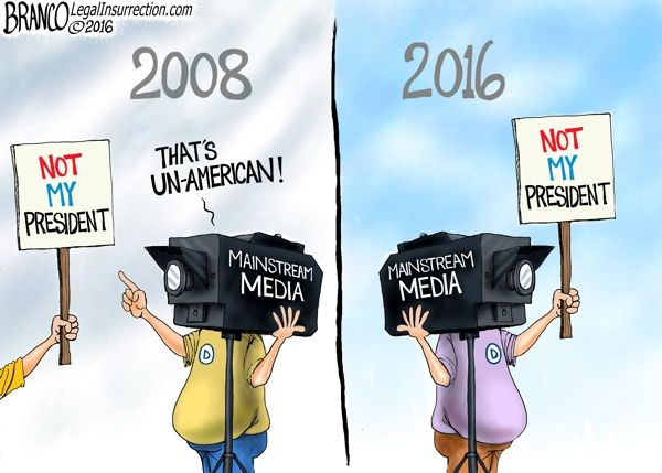 Even after the election the mainstream media continues its assault on Donald Trump. Behavior considered un-American during the Obama presidency. By A.F Branco.
