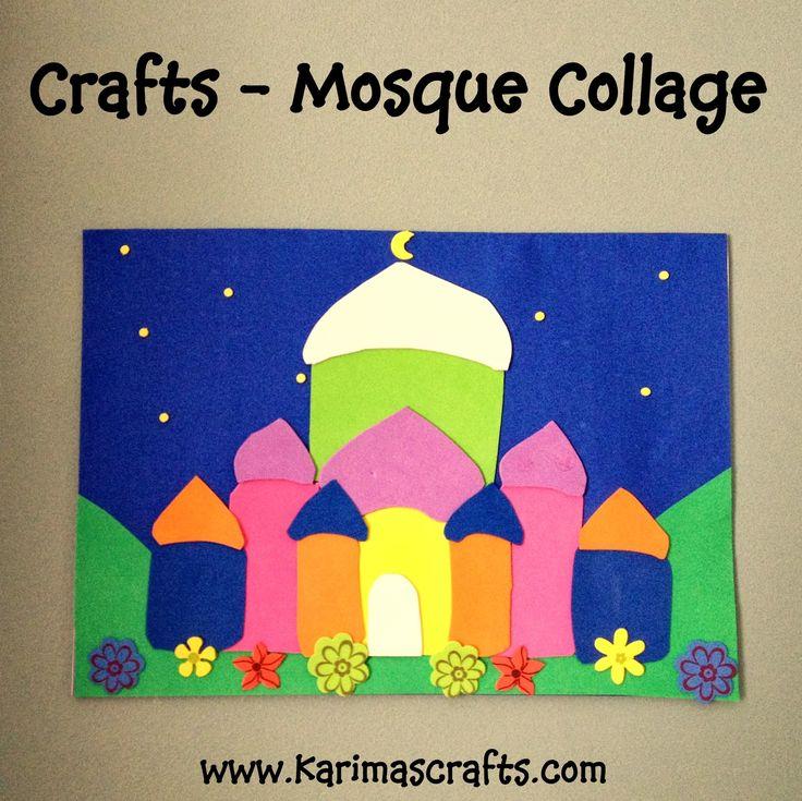 Karima's Crafts: Mosque Collage - 30 Days of Ramadan Crafts