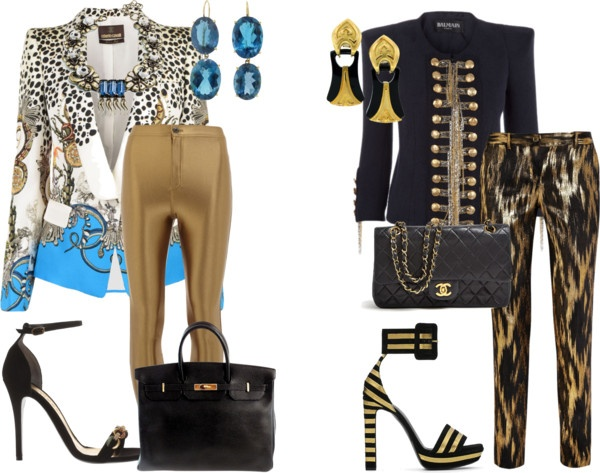 """""""2 EVENING PANT OUTFITS"""" by evelyn-wade on Polyvore"""